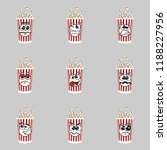 set of popcorn expression is... | Shutterstock .eps vector #1188227956