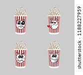 set of popcorn expression is... | Shutterstock .eps vector #1188227959