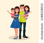 happy family. father  mother ... | Shutterstock .eps vector #1188228013