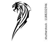 vector image of a black dragon. ... | Shutterstock .eps vector #1188232546