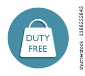 duty free sign icon in badge...