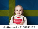 swedish concept with little...   Shutterstock . vector #1188236119