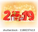 new year background with a 2019 ... | Shutterstock .eps vector #1188237613