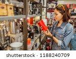 asian happy girl shopping for...   Shutterstock . vector #1188240709
