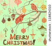 scrapbooking christmas card... | Shutterstock .eps vector #118824310