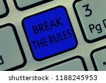 writing note showing break the... | Shutterstock . vector #1188245953