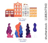 flat cartoon style vector...   Shutterstock .eps vector #1188247543