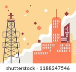urban landscape with large... | Shutterstock .eps vector #1188247546