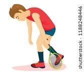 defeated sad tennis player man... | Shutterstock .eps vector #1188248446
