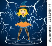 angry furious witch with green...   Shutterstock .eps vector #1188248449