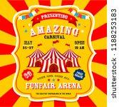 carnival banner. circus....   Shutterstock .eps vector #1188253183