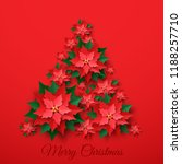 Vector Red Christmas Tree Made...
