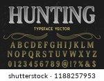 font script typeface vector... | Shutterstock .eps vector #1188257953
