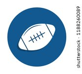 rugby ball icon in badge style. ...