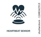 heartbeat sensor icon.... | Shutterstock .eps vector #1188262513