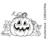 funny lantern from pumpkin with ... | Shutterstock .eps vector #1188262966