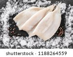 fresh raw fillet squid with... | Shutterstock . vector #1188264559