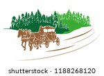 carriage ride in the... | Shutterstock .eps vector #1188268120