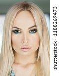 woman with long blond hair ...   Shutterstock . vector #1188269473