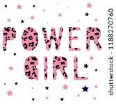 text leopard baby girl tee...   Shutterstock .eps vector #1188270760