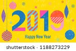 stylish greeting card. happy... | Shutterstock .eps vector #1188273229