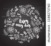 decorative graphic flower... | Shutterstock .eps vector #1188273760