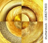 abstract golden circles... | Shutterstock . vector #1188274303