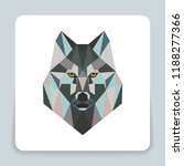 wild wolf low poly design....   Shutterstock .eps vector #1188277366