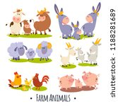 6 Vector Cards With Cute Farm...