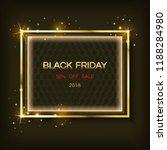 gold sparkling square frame... | Shutterstock .eps vector #1188284980
