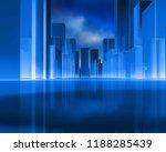 abstract city buildings skyline.... | Shutterstock . vector #1188285439
