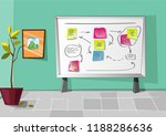 white board with notes office... | Shutterstock .eps vector #1188286636