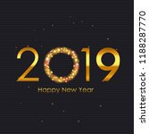 2019 happy new year and marry... | Shutterstock .eps vector #1188287770