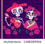 poster day of the dead vector... | Shutterstock .eps vector #1188289006