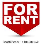 red vector banner for rent   Shutterstock .eps vector #1188289360