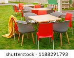 tables and chairs on a picnic... | Shutterstock . vector #1188291793