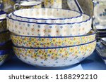 colorful  handmade pottery... | Shutterstock . vector #1188292210