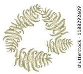fern frond herbs  tropical... | Shutterstock .eps vector #1188292609