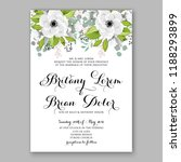 floral wedding invitation... | Shutterstock .eps vector #1188293899
