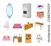 furniture and interior cartoon... | Shutterstock .eps vector #1188296329