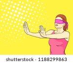 pop art background is orange. a ... | Shutterstock . vector #1188299863