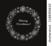 festive wreath with snowflakes. ... | Shutterstock .eps vector #1188300610