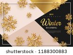 christmas background with gold... | Shutterstock .eps vector #1188300883