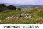 panoramic view of bergama town... | Shutterstock . vector #1188307429