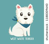 Stock vector vector icon of dog breeds west white terrier illustration west white terrier puppy is sitting 1188309640