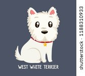 Vector Icon Of Dog Breeds  Wes...