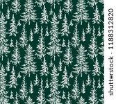 vector pattern of fir forest   Shutterstock .eps vector #1188312820