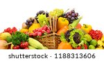healthy fresh vegetables and... | Shutterstock . vector #1188313606