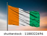 waving flag of the ivory coast. ... | Shutterstock . vector #1188322696