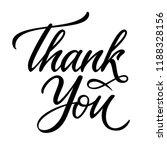 thank you card design.... | Shutterstock .eps vector #1188328156